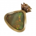 Fit for a Queen gem Australian 21.85 carat opal and diamond pendant in 18k gold