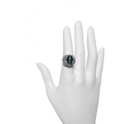 antique 7 ct cat's eye tourmaline ring - 18k/ platinum mounting -valued at $5000