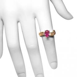 estate designer 1.2ct pink sapphire, 1 ct vs diamonds and 14k ring