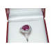 PERFECT PINK 2.02ct SAPPHIRE +.5c DIAMOND RING - UNHEATED-18K- VALUED AT $13500
