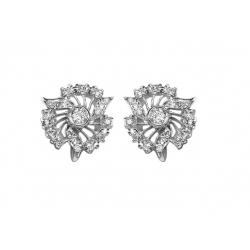 original early 20th c art nouveau 1.6 ct diamond + 14k earrings- valued at $6800