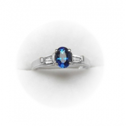 1.16 ct blue sapphire ring -18k and vs diamond setting - beautiful color