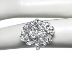 early 20th c. 1.5 ct diamond + platinum ring - old european cut- valued at $5500