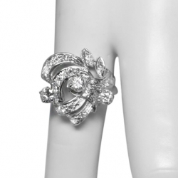 1940's vintage .5 ct diamond + 14k ring - beautiful design - vs diamonds