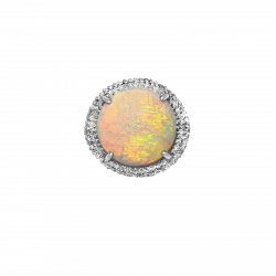 6.38ct ladies natural australian opal + .75ct diamond ring -14k- valued at $6599