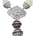 Cultured Pearl Unique Ruby, Diamond,  and 18K White Gold Ladies Neckpiece