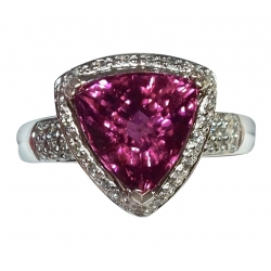fit for a princess brilliant 6ct pink tourmaline in 18k white gold ring