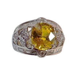fit for a queen 7.09 carat yellow sapphire 1.92 ct diamond ring 18k white gold