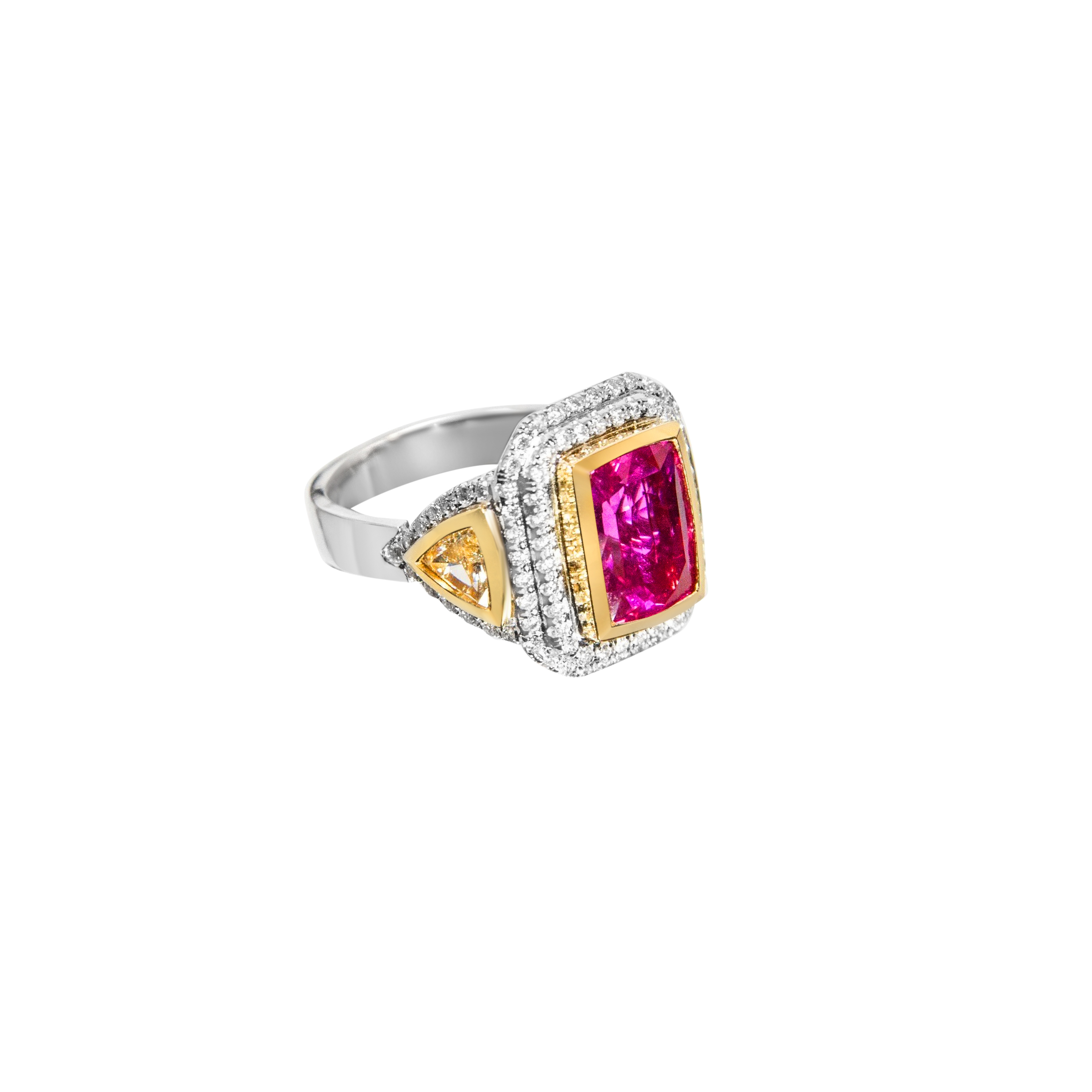ring eternity antique diamond engagement of rings natural ruby front white gold old diamonds view cut